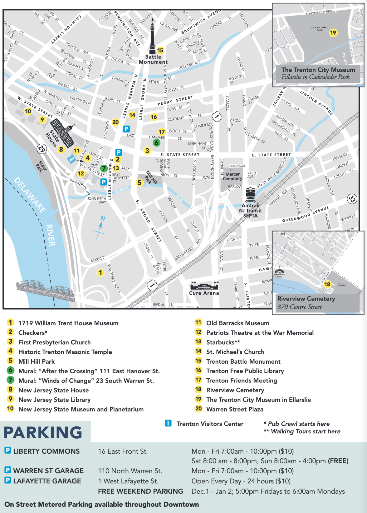 Events and Parking Map